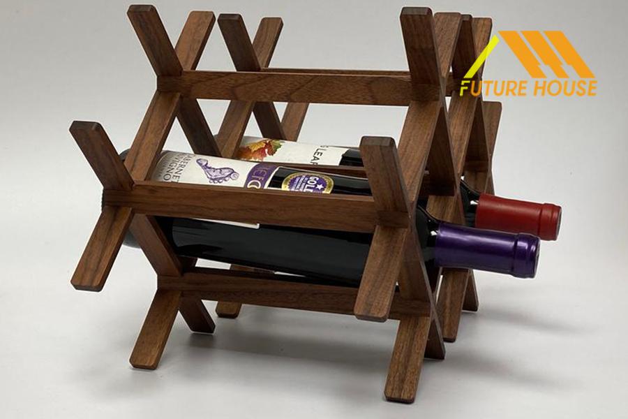 kệ rượu để bàn gỗ