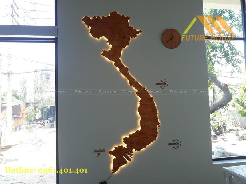 tranh gỗ bản đồ việt nam