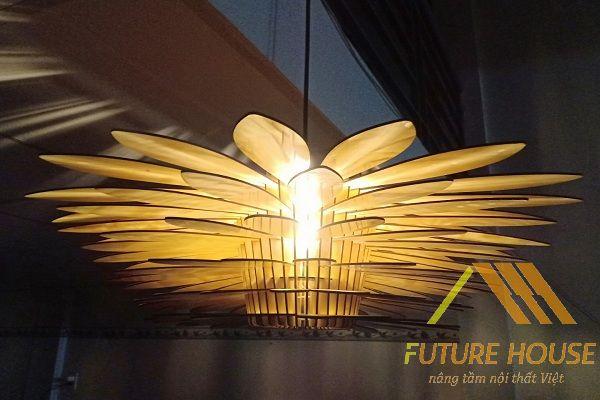 Đèn gỗ thả trần F-Louvre 55