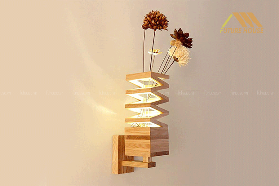 Đèn Gỗ Trang Trí Treo Tường Cao Cấp