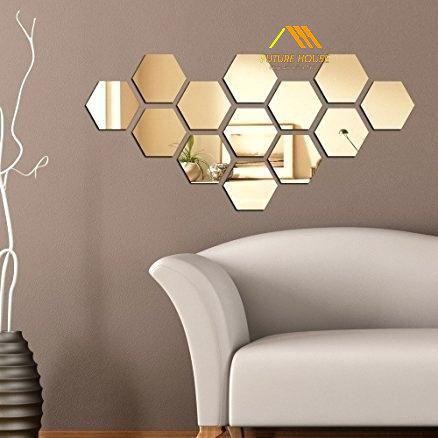 Gương Decor Trang Trí Tường Golden Beehive Mirror