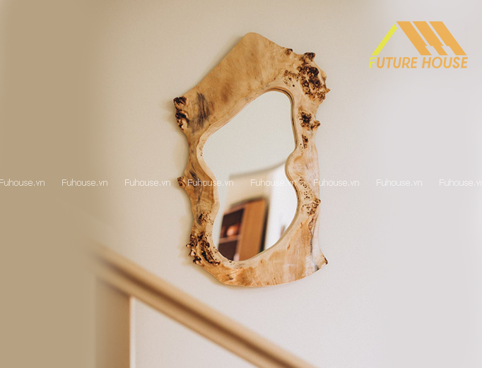 Gương Decor Trang Trí Tường Wood Mirror