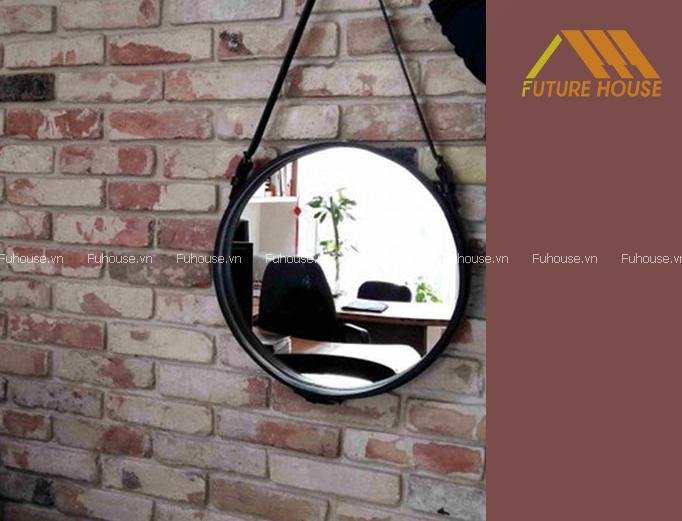 Gương Decor Trang Trí Tường Black Circle Mirror