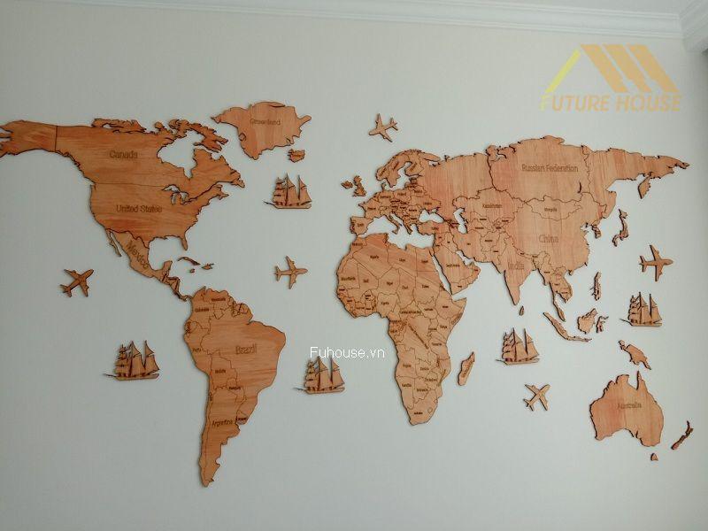 bản đồ trang trí tường