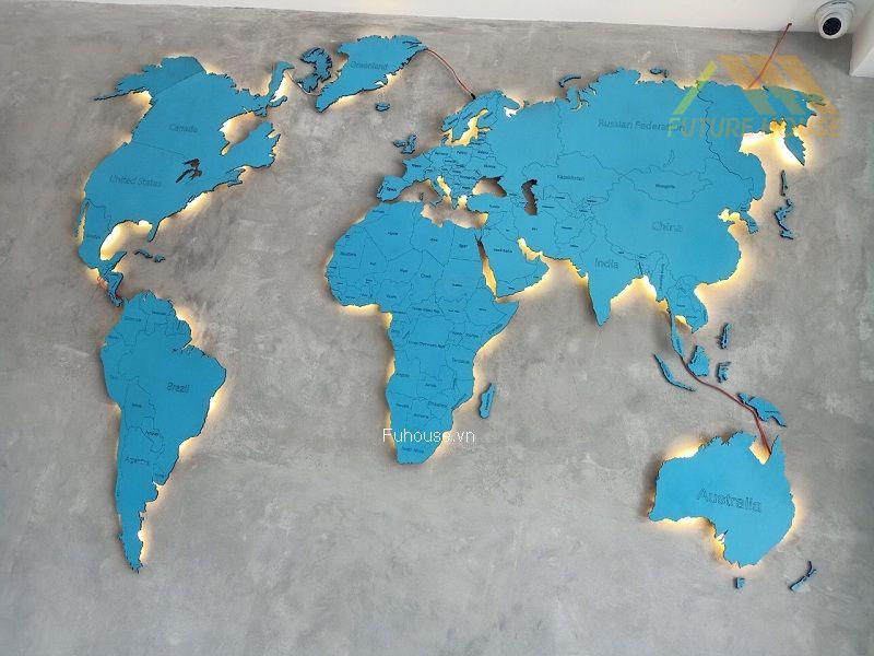 bản đồ treo tường đẹp
